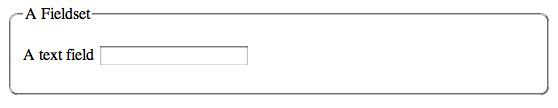 CSS border rules created rounded corners in the fieldset