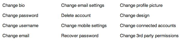 settings to change