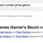 james garner bacon number