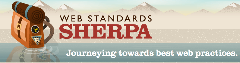 Web Standards Sherpa site header