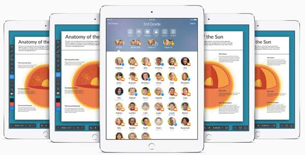 Images from apple.com of shared iPad use